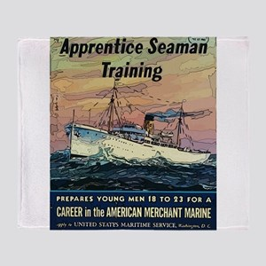 Apprentice Seaman Training Throw Blanket