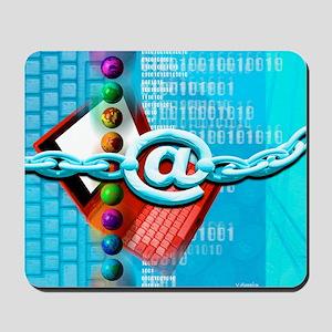 Mousepad - Conceptual computer artwork of internet