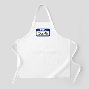 Hello: Charlie BBQ Apron