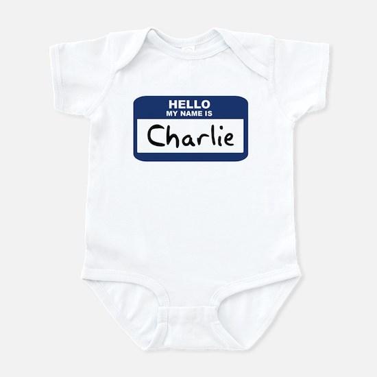 Hello: Charlie Infant Bodysuit