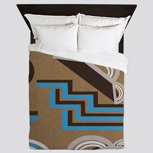 Vintage style fashionable abstract art Queen Duvet