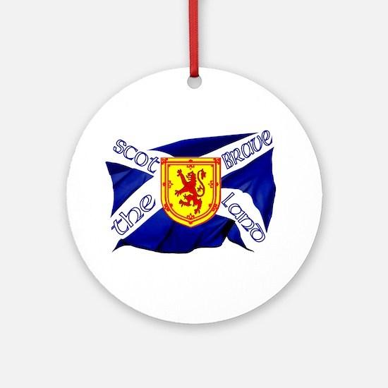 Scotland the brave flag Ornament (Round)
