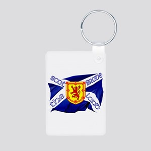 Scotland the brave flag Aluminum Photo Keychain