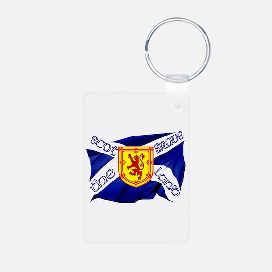 Scotland the brave flag Keychains