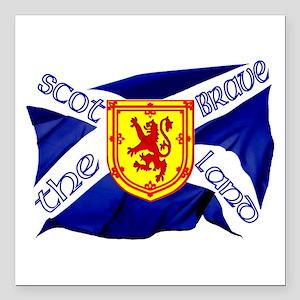 "Scotland the brave flag Square Car Magnet 3"""