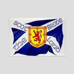 Scotland the brave flag Rectangle Magnet