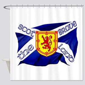 Scotland the brave flag Shower Curtain