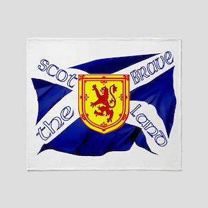 Scotland the brave flag Throw Blanket