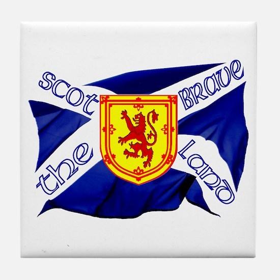 Scotland the brave flag Tile Coaster