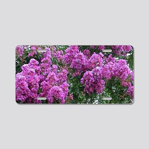 Mother Nature Aluminum License Plate
