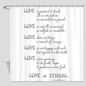 Love is Patient Verse Shower Curtain