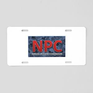 NPC NAVAL Aluminum License Plate