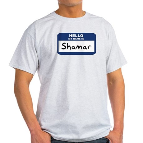 Hello: Shamar Ash Grey T-Shirt