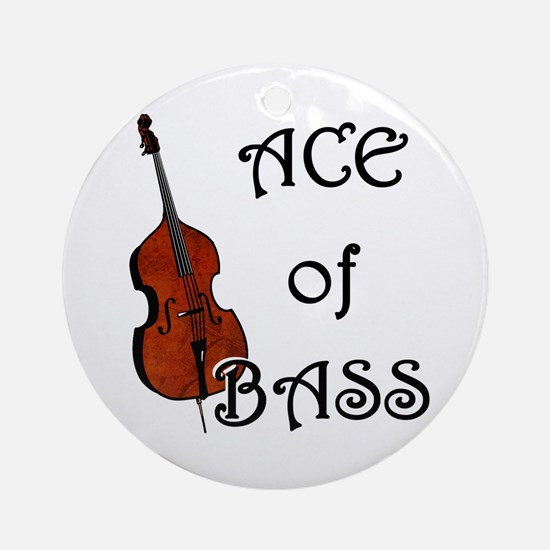 Ace of Bass Ornament (Round)