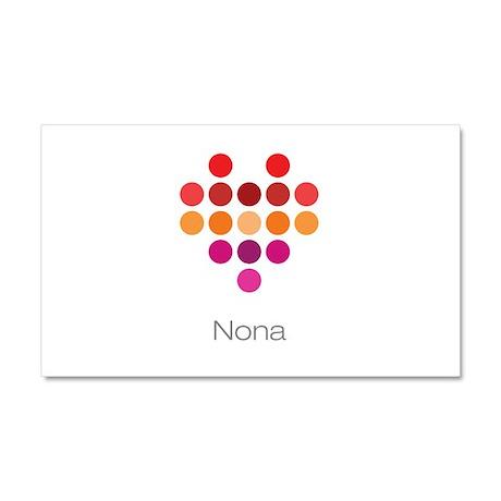 I Heart Nona Car Magnet 20 x 12