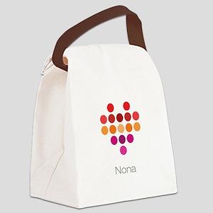 I Heart Nona Canvas Lunch Bag