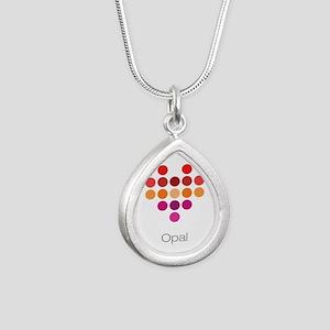 I Heart Opal Silver Teardrop Necklace
