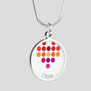 I Heart Opal Silver Round Necklace