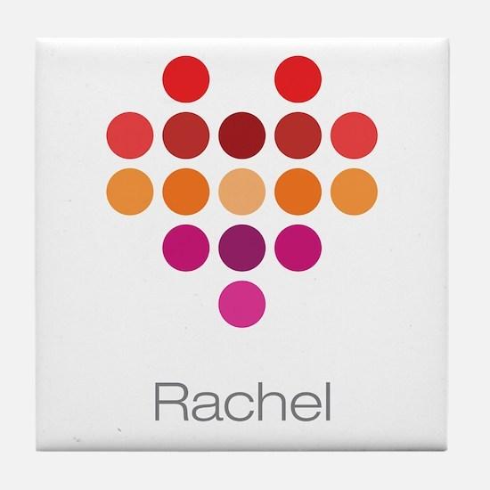 I Heart Rachel Tile Coaster