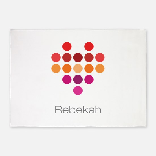 I Heart Rebekah 5'x7'Area Rug