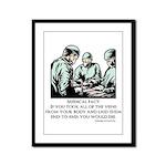 Veins Fact Framed Panel Print
