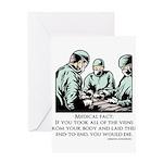 Veins Fact Greeting Card