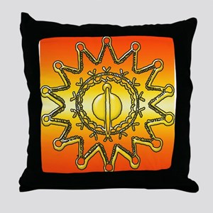 Iroquois Sun Throw Pillow