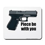 Piece Be With You Mousepad
