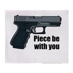 Piece Be With You Throw Blanket