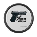 Piece Be With You Large Wall Clock