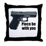 Piece Be With You Throw Pillow