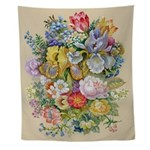 Flower Bouquet Painting Wall Tapestry