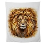 Artistic Lion Face Wall Tapestry