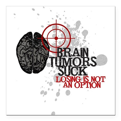 "Losing is Not an Option Square Car Magnet 3"" x 3"""