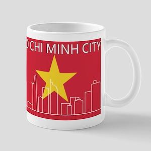 HCMC Skyline VN Flag Mugs