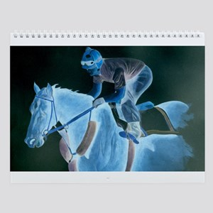 Race Horse and Jockey Wall Calendar