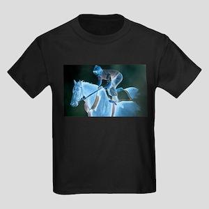 Race Horse and Jockey Kids Dark T-Shirt