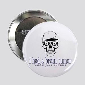 "Brain Tumor Excuse 2.25"" Button"