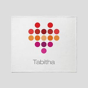 I Heart Tabitha Throw Blanket