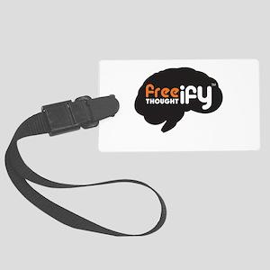 Big Freethoughtify Brain Luggage Tag