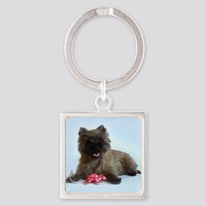 Cairn Terrier Square Keychain