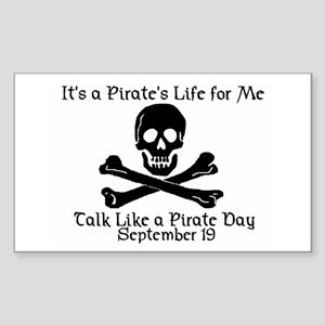 Talk Like A Pirate Day Rectangle Sticker