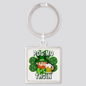 POG MO THOIN with Leprechaun Square Keychain