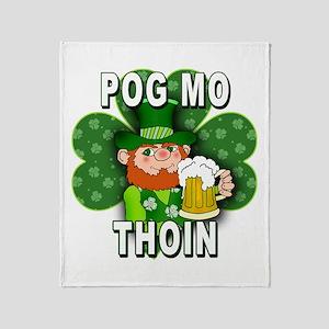POG MO THOIN with Leprechaun Throw Blanket