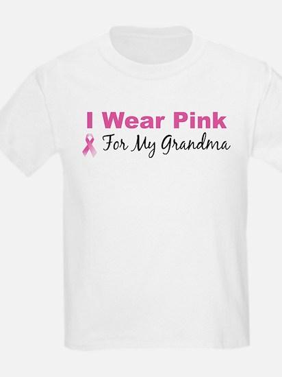 I Wear Pink For My Grandma Kids T-Shirt