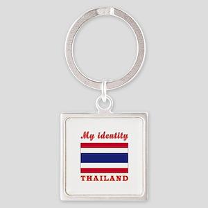 My Identity Thailand Square Keychain