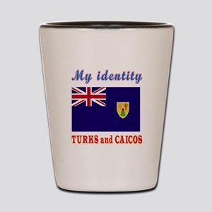 My Identity Turks and Caicos Shot Glass
