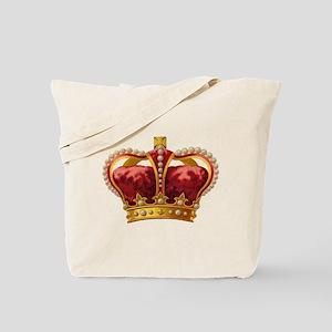 Vintage Royal Crown of Gold Tote Bag