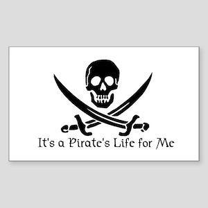 Jolly Roger (S) Rectangle Sticker