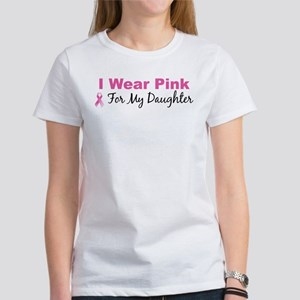 I Wear Pink For My Daughter Women's T-Shirt
